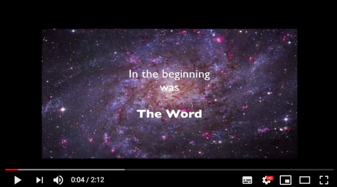 In the beginning was The Word – by Andreas N. Bjørndal
