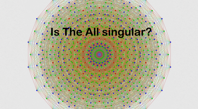 is THE ALL singular?